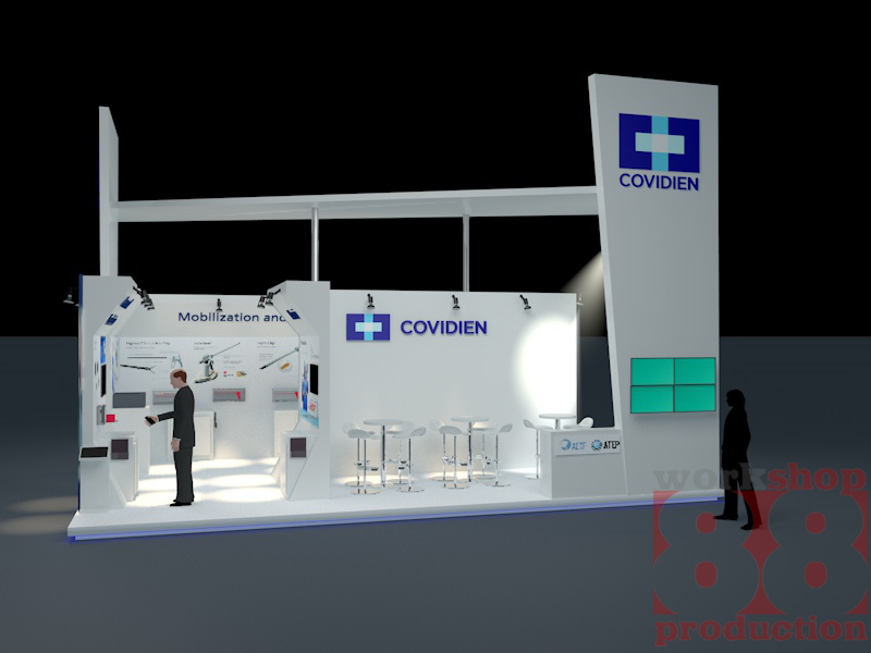 Covidien Booth for Exhibition in Bali Info Exhibition Contractor +6282131036888 2