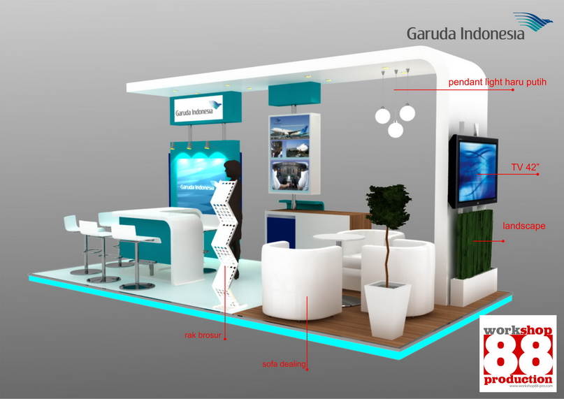 Pro Expo Communication Stands Events : Booth garuda travel fair info exhibition