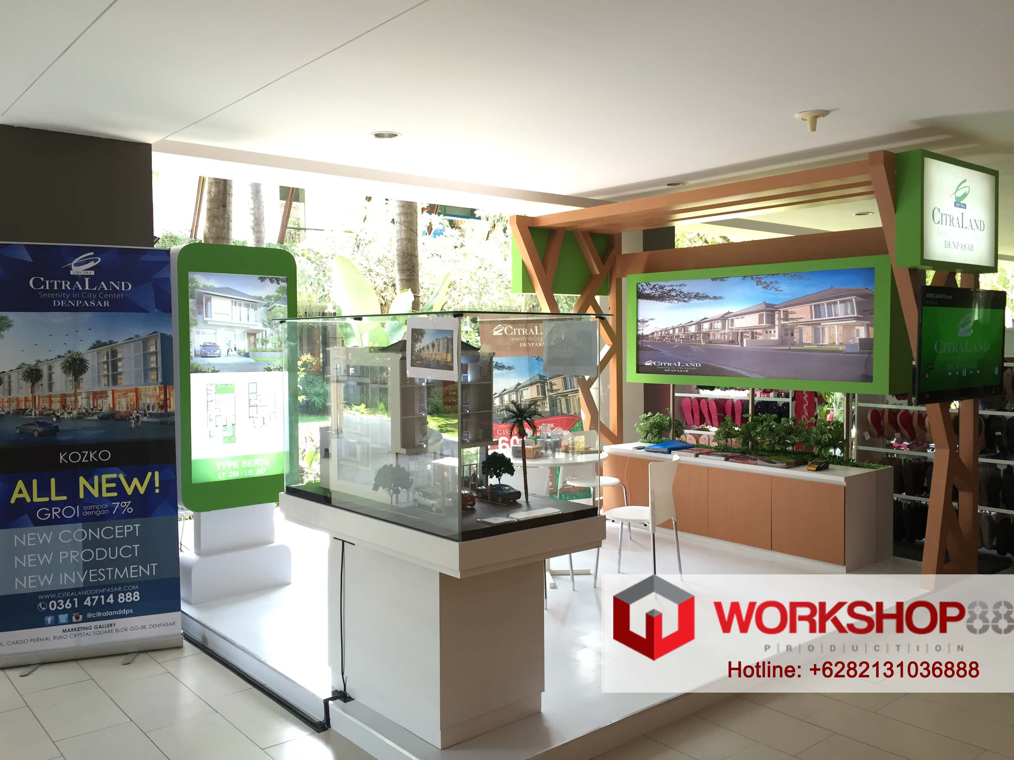 Property Exhibition Booth : Booth stand contractor citraland property exhibition at mall bali