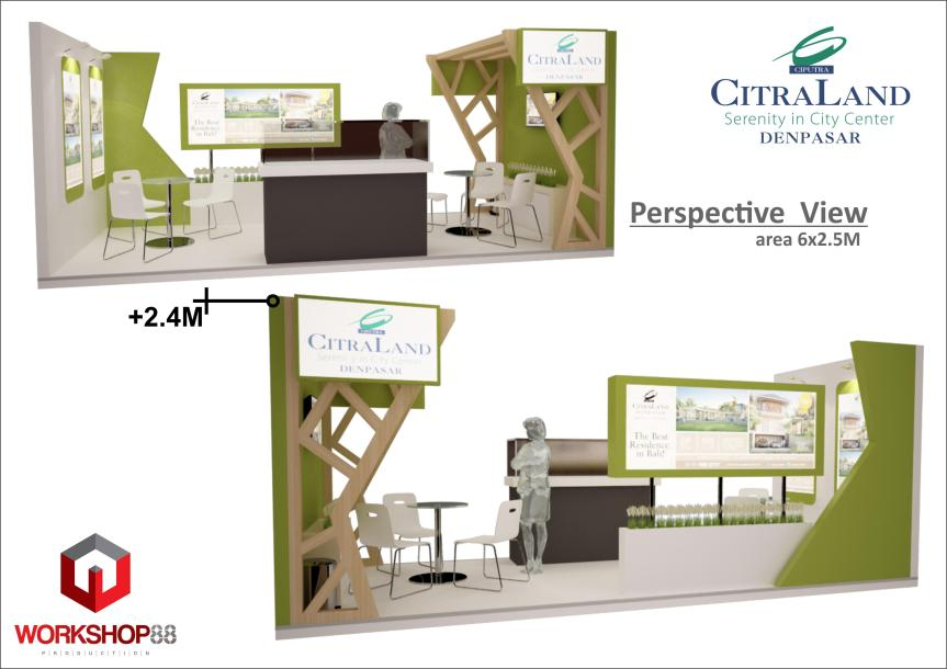 Perspective Booth Stand Bali Citrland Denpasar +6285131036888